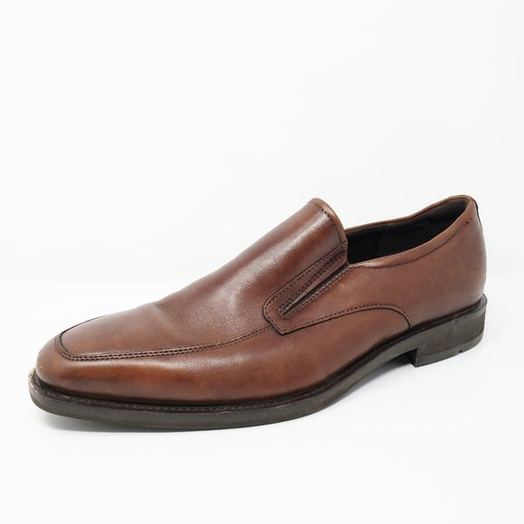 Ecco Calcan Slip On Leather Loafers Comfort Shoes
